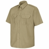 SP66KH Short Sleeve Khaki Basic Security Shirt