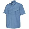 SP66MB Short Sleeve Medium Blue Sentinel Basic Security Shirt