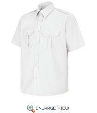 SP66WH Short Sleeve White Sentinel Basic Security Shirt