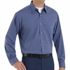 SP74GB Long Sleeve Gray/Blue  Mini-Plaid Work Shirt