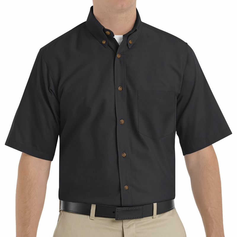 SP80 Men's Short Sleeve Button Down Poplin Shirts