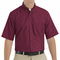 SP80BY Men's Burgundy Short Sleeve Button Down Poplin Shirts