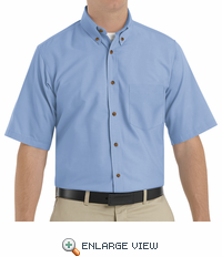 SP80LB Men's Light Blue Short Sleeve Button Down Poplin Shirts
