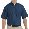 SP80NV Men's Navy Short Sleeve Button Down Poplin Shirts