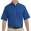 SP80RB Men's Royal Blue Short Sleeve Button Down Poplin Shirts