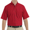 SP80RD Men's Red Short Sleeve Button Down Poplin Shirts
