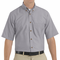 SP80SV Men's Silver Gray Short Sleeve Button Down Poplin Shirts