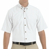 SP80WH Men's White Short Sleeve Button Down Poplin Shirts