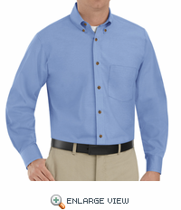 SP90LB Men's Light Blue Long Sleeve Button Down Poplin Shirts