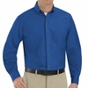 SP90RB Men's Royal Blue Long Sleeve Button Down Poplin Shirts