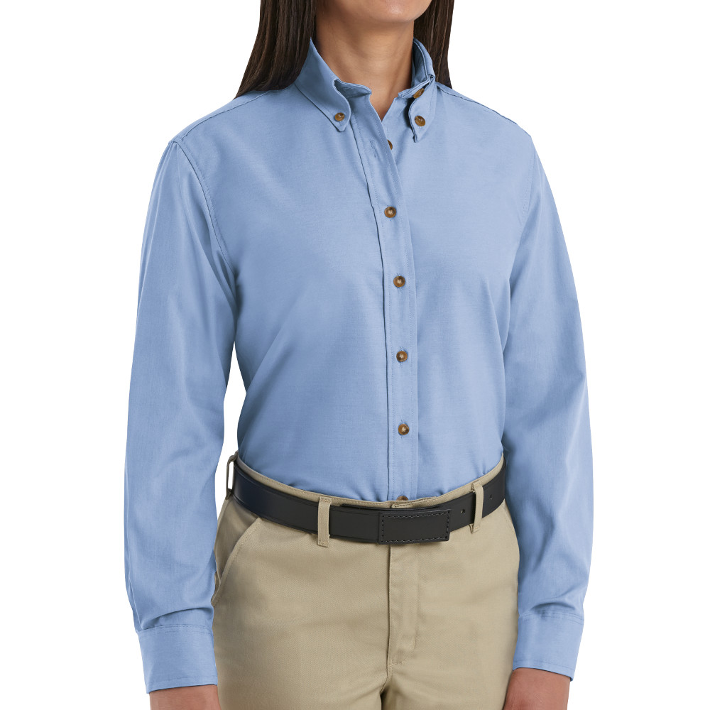 Light Blue Button Down Shirt Womens