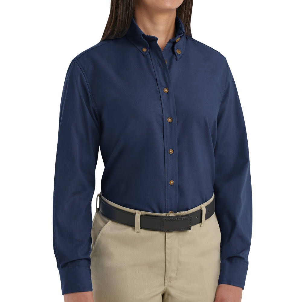 Navy blue shirt for women artee shirt for Button down uniform shirts