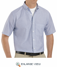 SR60BS  Short Sleeve Blue/White Men's Executive Button-Down Shirt
