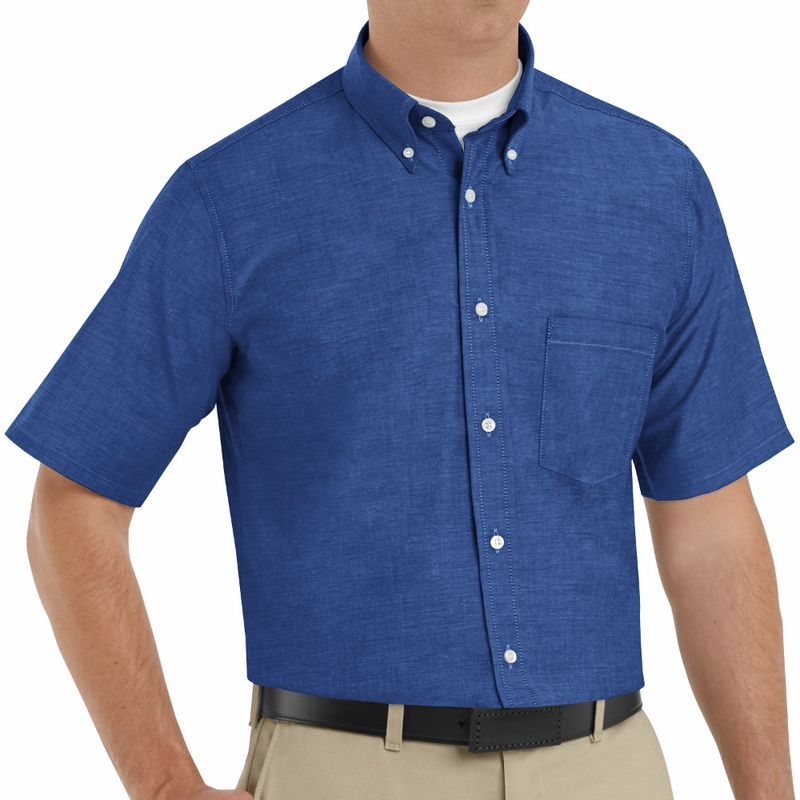 sr60fb short sleeve french blue men 39 s executive button