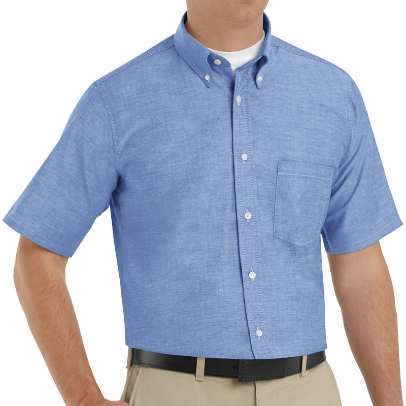 dcb50855994 SR60LB Short Sleeve Light Blue Men s Executive Oxford Button-Down Shirt