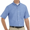 SR60LB Short Sleeve Light Blue Men's Executive Oxford Button-Down Shirt