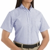 SR61BS Short Sleeve Women's Blue Stripe Executive Button-Down Shirt