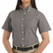 SR61GY Short Sleeve Women's Gray Executive Oxford Button-Down Shirt