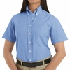 SR61LB Short Sleeve Women's Light Blue Oxford Executive Button-Down Shirt