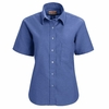 SR65FB Short Sleeve Women's French Blue Executive Button-Down Shirt