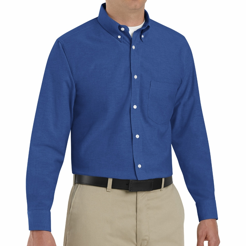 SR70 Long Sleeve Men's Executive Button-Down Shirt (6-Colors)