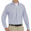 SR70BS Long Sleeve Men's Blue/White Stripe Executive Button-Down Shirt