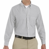 SR70GS Long Sleeve Men's Gray/White Stripe Executive Button-Down Shirt