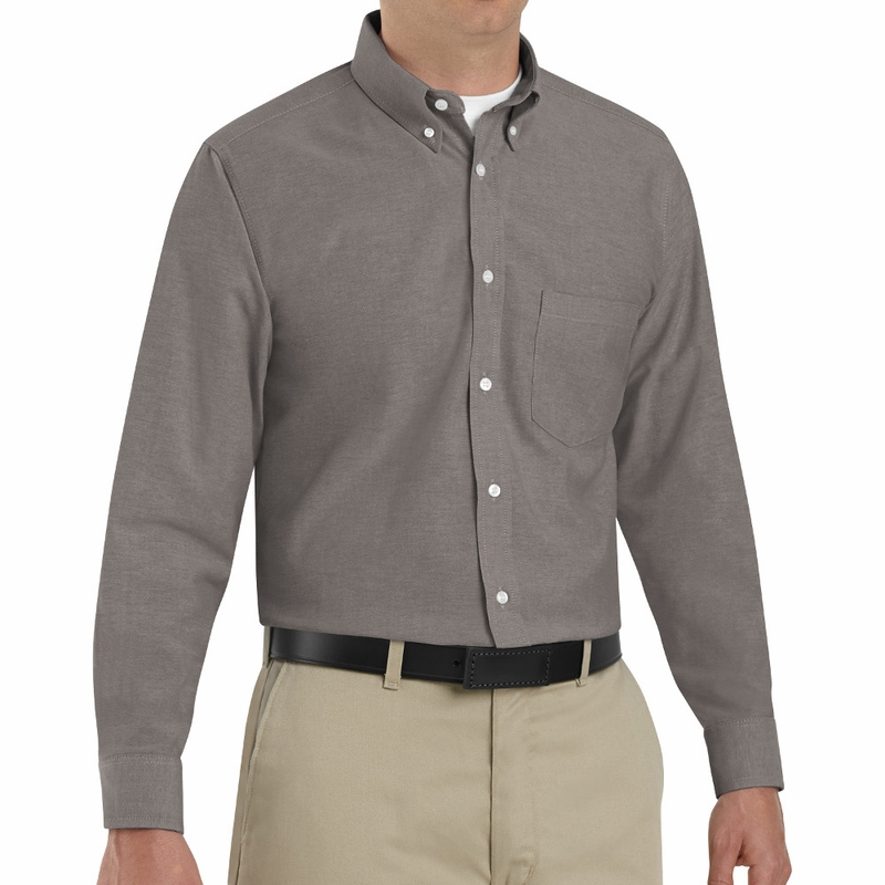 Red Kap Mens Long Sleeve Solid Oxford Executive Shirt