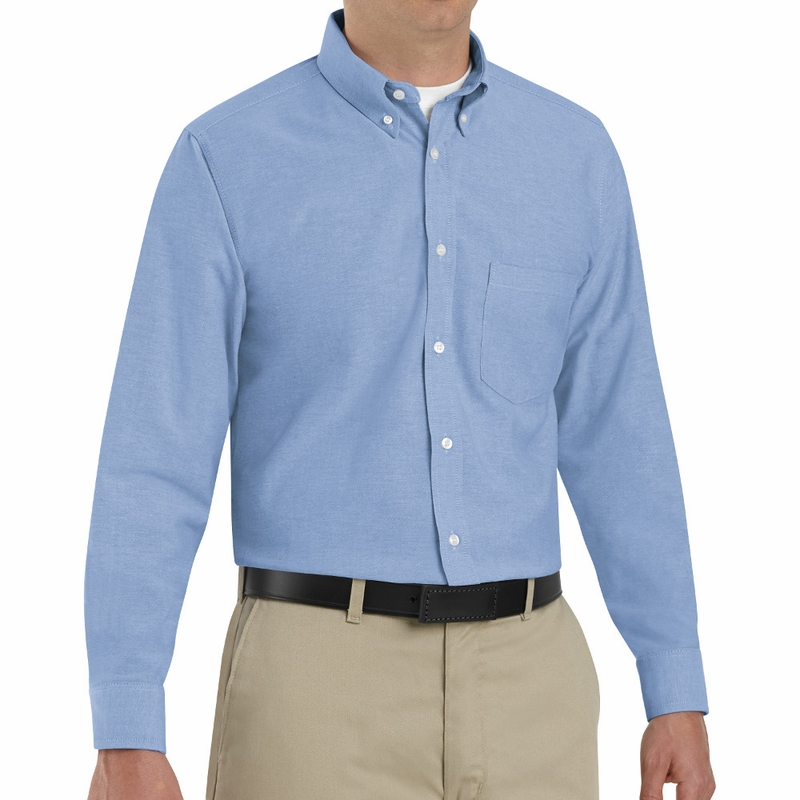 SR70LB Long Sleeve Men's Light Blue Executive Button-Down Shirt