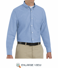 SR70LB Long Sleeve Men's Light Blue Executive Oxford Button-Down Shirt