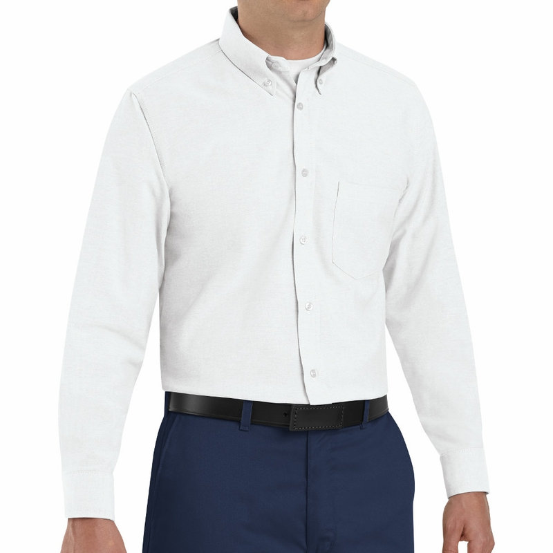 SR70WH Long Sleeve Men's White Executive Button-Down Shirt