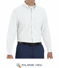 SR70WH Long Sleeve Men's White Executive Oxford Button-Down Shirt
