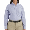 SR71BS Long Sleeve Women's Blue/White Stripe Executive Oxford Button-Down Shirt