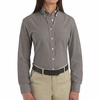 SR71GY Long Sleeve Women's Gray Executive Oxford Button-Down Shirt