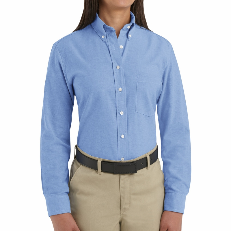 fd3aa6430f8 SR71LB Long Sleeve Women s Light Blue Executive Oxford Button-Down Shirt