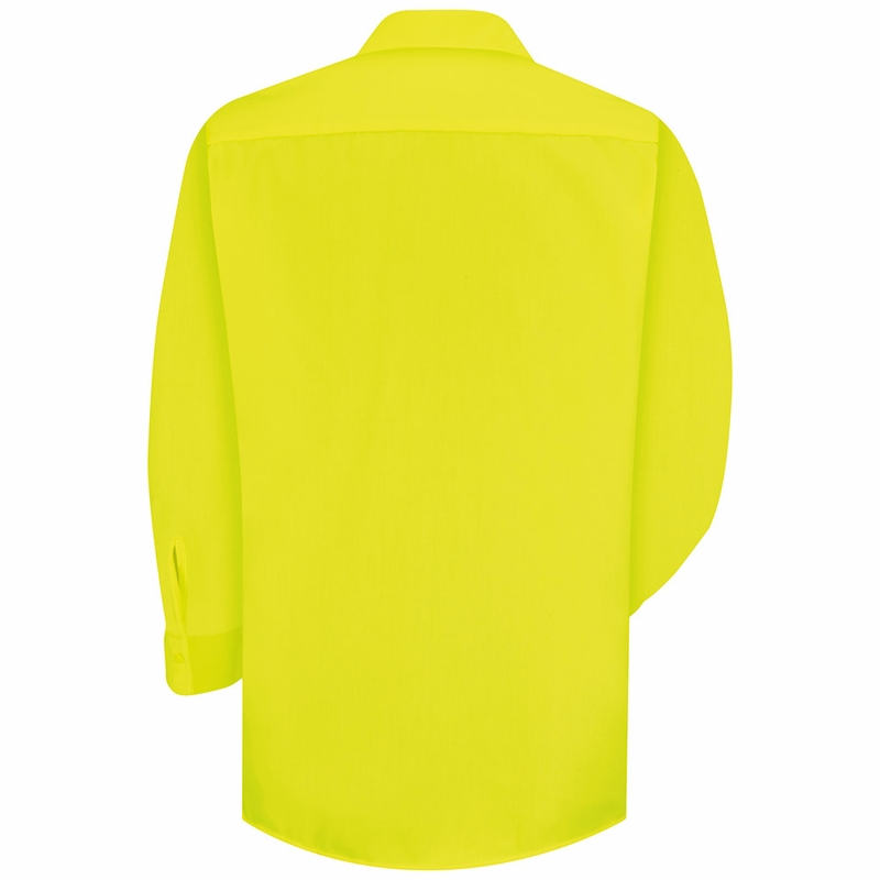Ss14ye hi vis yellow green long sleeve shirt without for Hi vis shirts with reflective tape