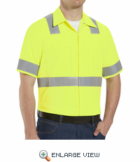 SS24HV  Hi-Visibility Short Sleeve Work Shirt Class2 Level 2