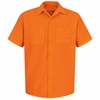 SS24OR Fluorescent Orange Short Sleeve  Enhanced Visibility Shirt