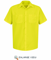SS24YE Fluorescent Yellow/Green Short Sleeve  Enhanced Visibility Shirt