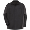 SY10BC Black/Charcoal  Long Sleeve Crew Shirt