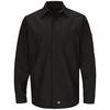 SY10BK Solid Black Long Sleeve Crew Shirt
