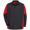 SY10BR Black/Red  Long Sleeve Crew Shirt