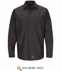 SY10CH Solid Charcoal Long Sleeve Crew Shirt