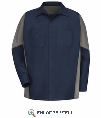 SY10NG Navy/Grey Long Sleeve Crew Shirt