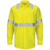 SY14HV Long Sleeve Hi-Visibility Ripstop Work Shirt