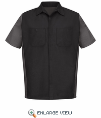 SY20BC Black/Charcoal Short Sleeve Crew Shirt