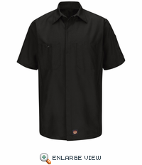 SY20BK Black Ripstop Solid Short Sleeve Crew Shirt