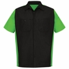 SY20BL Black/Lime Short Sleeve Crew Shirt