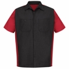SY20BR Black/Red Short Sleeve Crew Shirt