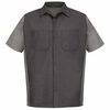 SY20CG Charcoal/Light Grey Short Sleeve Crew Shirt